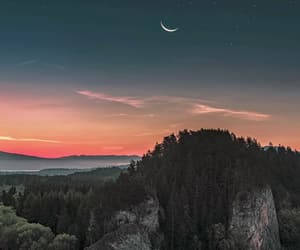cool, moon, and paisajes image