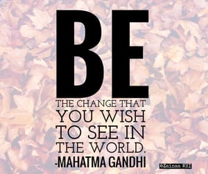 quote, mahatma gandhi, and words image