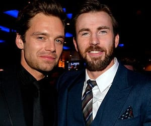 chris evans, sebastian stan, and bucky image