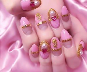 pink, nails, and pastel image