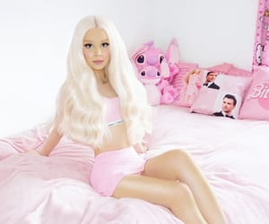 angel, barbie, and bed image