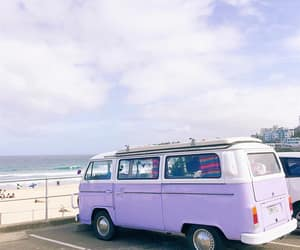 beach, cars, and lilac image