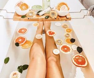 bath, orange, and relax image