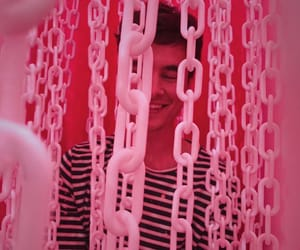 pink, boy, and chains image