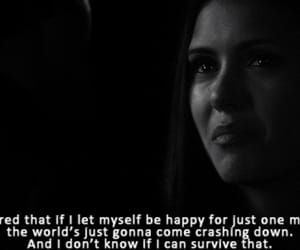 quotes, sad, and the vampire diaries image