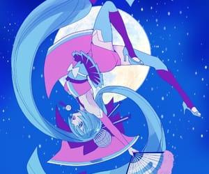 anime girl, hatsune miku, and magnet image