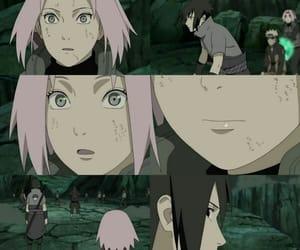 sakura, sasuke, and war image