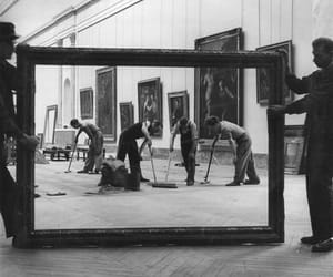 art, black and white, and louvre image