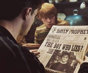 harry potter, black and white, and ron weasley image