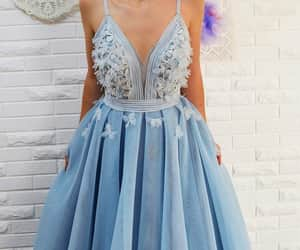beautiful, blue, and dress image