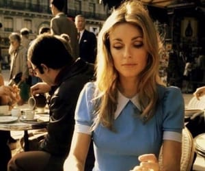 sharon tate, vintage, and coffee image