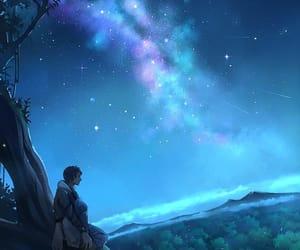 anime, night, and stars image