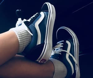 aesthetics, blue, and vans image
