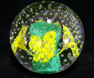 art glass, trumpet flower, and hand blown glass image