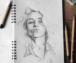 drawing, pencil, and art image