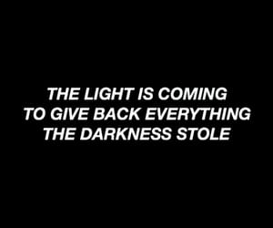 header, the light is coming, and Lyrics image