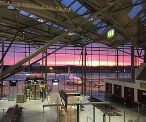 airport, beautiful sky, and summer image