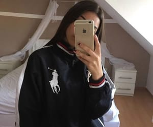 girl, iphone, and Polo image