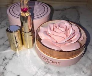 makeup, lancome, and lipstick image