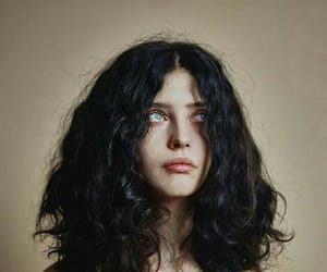 girl, blue eyes, and hair image