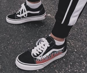 vans, shoes, and fire image