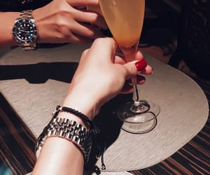 champagne, watches, and couple image