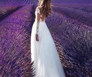 dress, girl, and wedding image