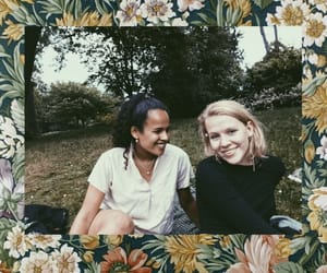 best friends, floral, and flowers image