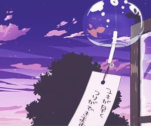 gif, anime, and purple image