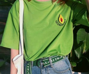 green, outfit, and avocado image