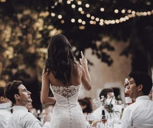 bridal gown, toast, and white image