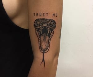 tattoo, snake, and alternative image