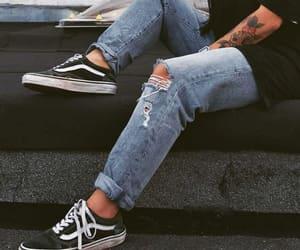 vans, tattoo, and dark image