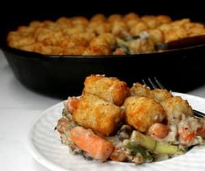 recipe, vegan, and tater tot casserole image