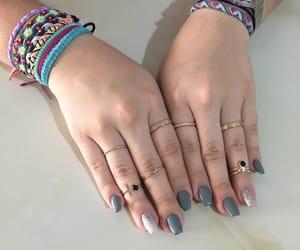 gray, nails, and rings image