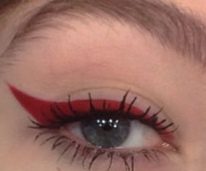 red, aesthetic, and eyes image