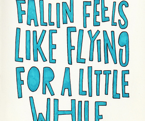 quote, Flying, and falling image