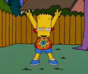 bart, simpsons, and hippie image
