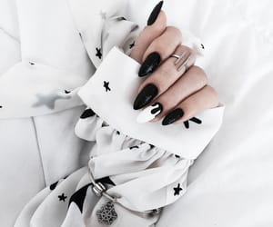 black, rings, and white image