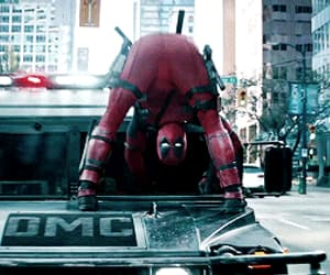 gif, deadpool, and Marvel image