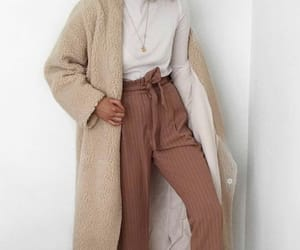 brown, coat, and girl image