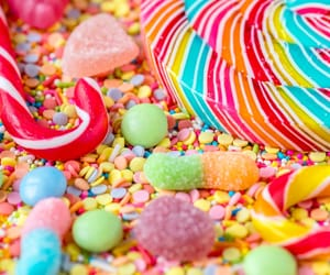 candy, color, and lollipops image