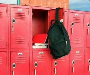 aesthetic, locker, and red image
