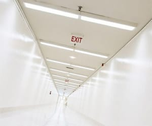 exit, hospital, and white image