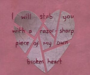 heart, pink, and broken image