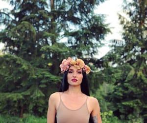 artist, black hair, and makeup image