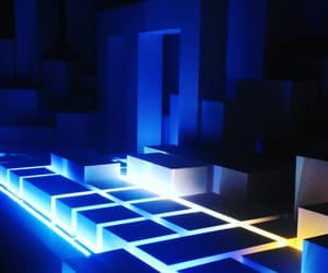 glow, blue, and photogtaphy image