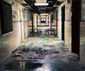 abandoned, creepy, and nature image