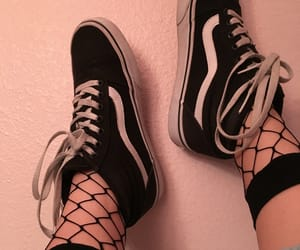 fishnet, skater, and 90s image