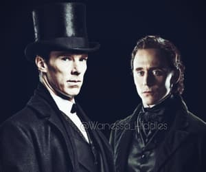 sherlock holmes, tom hiddleston, and sir thomas sharpe image
